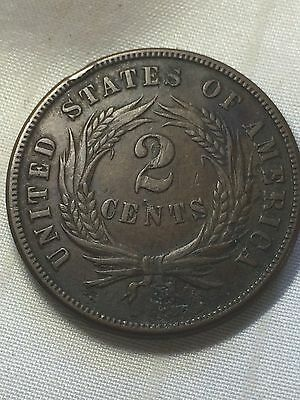 1871 Two Cent Piece - Tough Date LOOK!