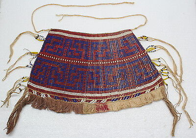 Guyana Waiwai Seed Beaded Traditional Apron or Lap Cloth