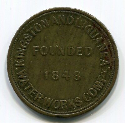 Jamaica (W.I.) - Kingston & Liguanea Waterworks 8 Pails Token