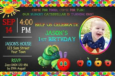 Very Hungry Caterpillar Birthday Party Invitation - You Print & Save!