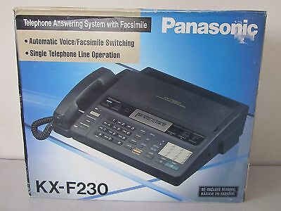 New Panasonic KX-F230 Telephone Answering System Machine with Facsimile Fax