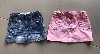 Cotton On & Ouch Girls Size 4 Denim Skirts