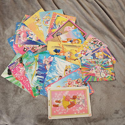 Sailor Moon R S SuperS Stars Banpresto and Carddass Jumbo Card Lot 19 Cards