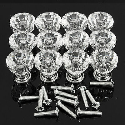 1Pc Crystal Glass Door Knobs Drawer Cabinet Furniture Kitchen Handle Top Quality