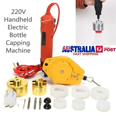 AU Electric Capping Machine Handle Manual Bottle Cap Sealer Sealing 220V AU