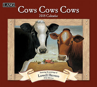 Cows Cows Cows 2018 Lang Full-Size Wall Calendar, January-December by Herrero