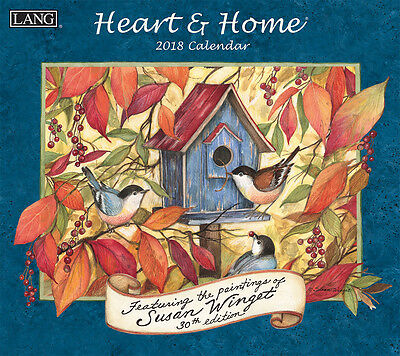 Heart & Home 2018 Lang Full-Size Wall Calendar, January-December by Susan Winget