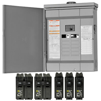 Square-D 125 Amp Outdoor Main-Breaker Load Center 24-Circuit 12-Space Panel Box