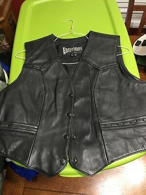 Easyriders Leather Vest XL Black