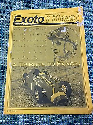 1996 First Edition Exoto Tifosi Catalog A Tribute To Fangio