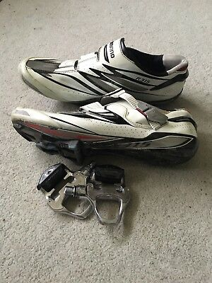 Shimano R315 Shoes 45 And Dura Ace Pedals