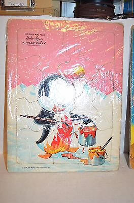 2 RARE Vintage Puzzles 1963 CHILLY WILLY and SPACE MOUSE Walter Lantz