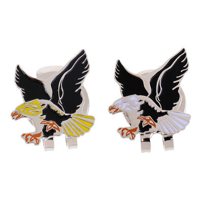 MagiDeal Mini Alloy Eagle Magnetic Golf Hat Clip with Ball Marker Golf Gifts