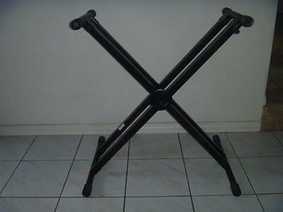 Keyboard stand, excel cond, folds flat, adjustable height