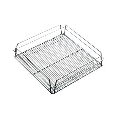 Glass Racks Baskets with Open Interior White
