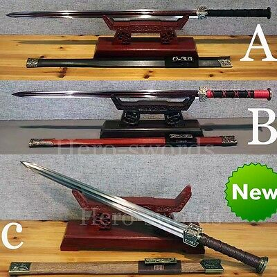 Battle Ready CHINESE HAN SWORD 汉剑 Double Groove Full Tang Blade Sharp Asia Sabre