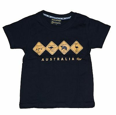 Kids boys girls T shirt Australia Australian Day Souvenir 100%cotton Road sign