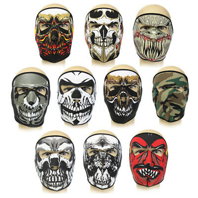 Neoprene FULL Face Mask Reversible Skateboard Bike MotorBike ski Scary Sport