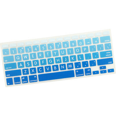 Dust Anti-dirty,Gradient Color Silicone Keyboard Cover for MacBook Pro Air