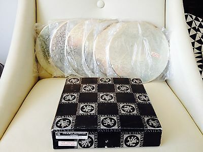 Lovely Set of 6 Vintage Strachan Silver plated Place Mats in Box