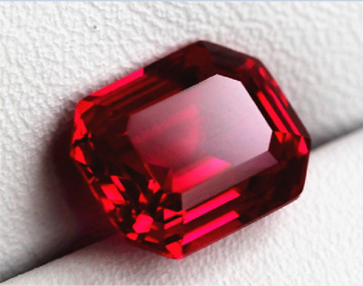 26.35CT Sang de Pigeon Rouge Rubis 13x18MM Rectangle Cut AAAA+ Pierre Nouveau