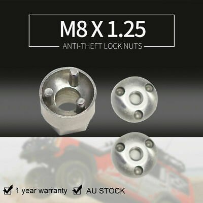 2pcs M8x1.25 Stainless Steel Anti-Theft Locking Nuts for LED Light Mounting 4WD