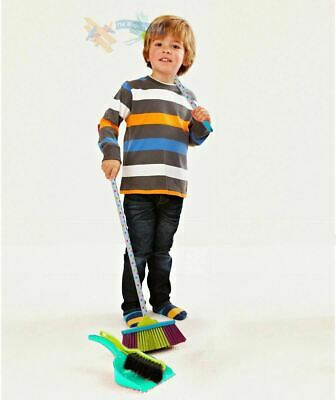 Kids Cleaning Sweeping Play Set - Mop Broom Brush Dustpan Childrens Pretend Toy