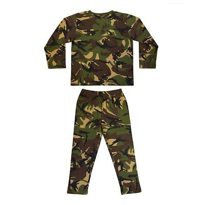 KAS Woodland Camo Kids Army Pyjamas Camouflage Military PJ Boys Ages 3-13 Years