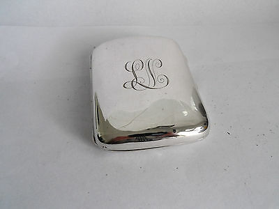 ANTIQUE SILVER CIGARETTE CASE HM 1902 GOLDSMITH & SILVERSMITHS  97 g INITIAL L N