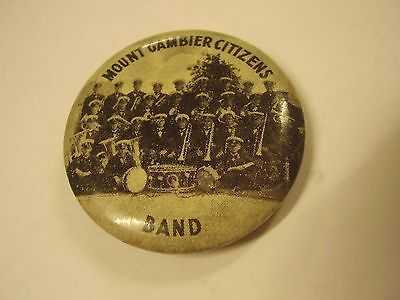 Vintage Mount Gambier Citizens Band Button Badge