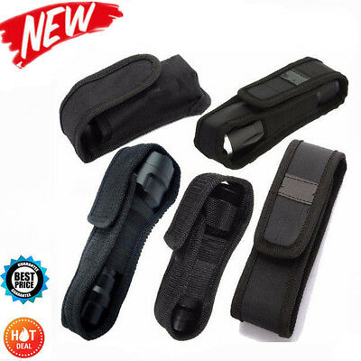 LED Flashlight Torch Lamp Nylon Pouch Holster Belt Carry Case Holder 12.5-17cm