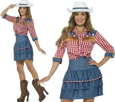 Ladies Rodeo Doll Cowgirl Fancy Dress Costume Cow Girl Outfit by Smiffys New