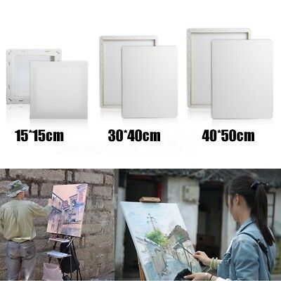Stretched Blank Drawing Craft Canvas Art Wood Frame Artist Painting Draw