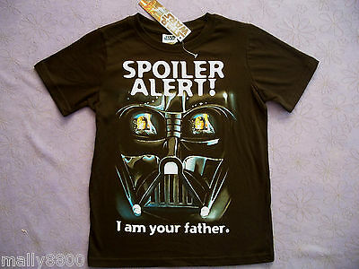 "Star Wars - Darth Vader - ""I am your father"" -Boys - Tshirt Top  Size 10, 12, 14"
