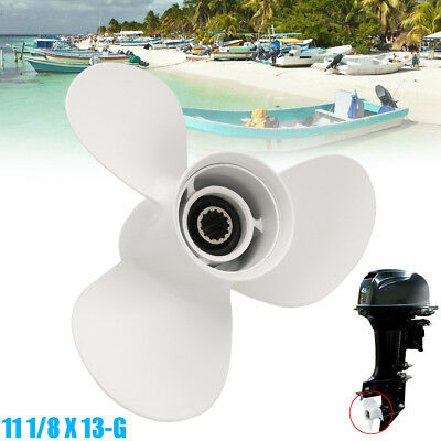 Aluminum Boat Propeller 11 1/8 X 13-G Outboard Motor 3 Blade for Yamaha 40-50HP