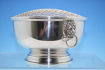 STERLING SILVER ROSE BOWL COMPLETE WITH GRILL - BIRMINGHAM 1996 - 302g