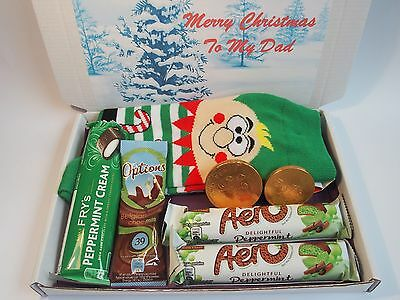 Personalised Christmas Mens Hamper Socks Lindt Reese's Cadbury Dad Uncle Brother
