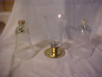 Homco Renaissance Three Unused Votive Cups With Rubber Grommets,mint Condition