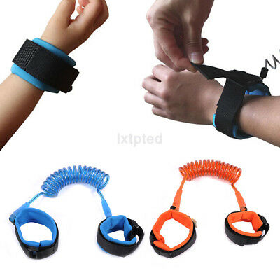 Child Toddler Anti Lost Belt Wrist Link Safety Wristband for Shopping Traveling~