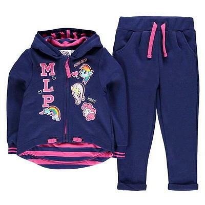 Girls Kids Official My Little Pony Hoodie Joggers Tracksuit Outfit Set