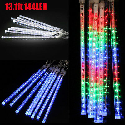 13.1ft 144LED Meteor Shower Rain Snowfall String Lights for Xmas Halloween Party