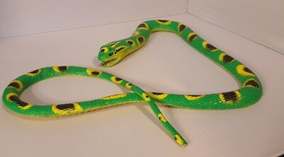 Large Bright Green And Yellow Fake Rubber Snake (2 Lbs)! Heavy Duty Toy