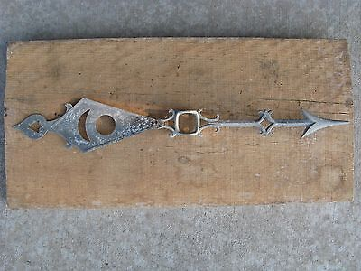 Vintage Fancy Moon Star Sun Starburst Arrow Lightning Rod Weathervane Barn Decor
