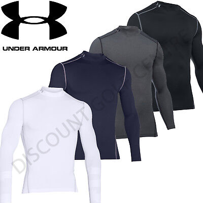 Under Armour Mens 2017 UA Golf ColdGear Compression Mock Base Layer