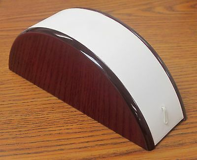Jeweler's White Leatherette Rosewood Bracelet Display w/ Mahogany Accents NEW