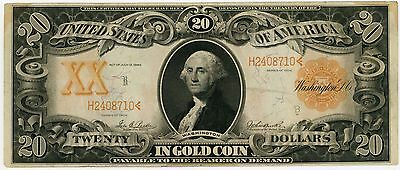 1906 $20 Gold Note Nice Vf