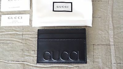 NICE!!! $250 Authentic GUCCI Black Leather & Stainless Steel Money Clip Wallet