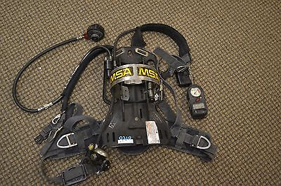 Lot of 10 MSA Firehawk SCBA Air Pack with Mask