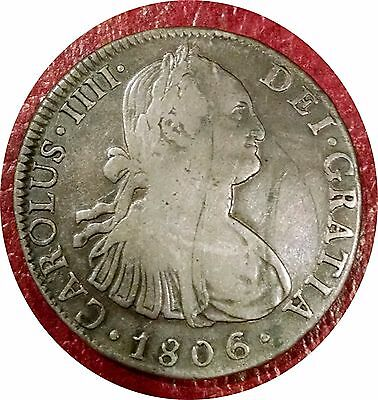 Mexico 1806 Spanish Colonial 8 Reales Silver - Nice Grade & Problem Free Coin