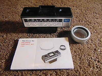 Vintage Polaroid Portrait Kit 581/581A Lens and Attachment Viewer -never used